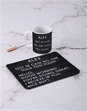 Personalised Just In Case Mouse Pad