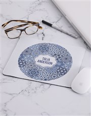Personalised Blue Marrakesh Mouse Pad