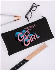 Personalised You Go Girl Pencil Bag