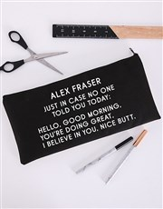Personalised Just In Case Pencil Bag