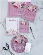 Personalised Roses Take Note Set