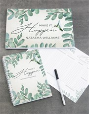 Personalised Leaf Take Note Set