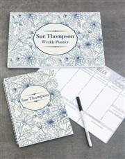 Personalised Sketch Floral Take Note Set