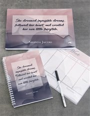 Personalised Watercolour Take Note Set