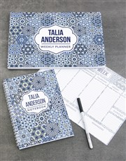 Personalised Blue Marrakesh Take Note Set