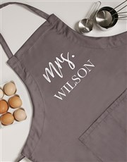 Personalised Modern Mrs Apron