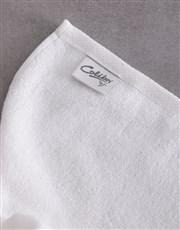 Personalised Modern Name White Towel set