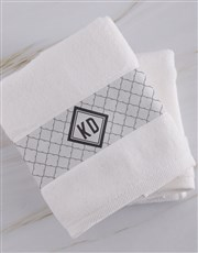 Personalised Crest White Towel Set