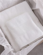 Personalised Royal White Towel Set
