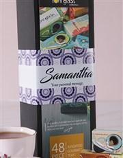 Personalised Toni Glass Tea Box