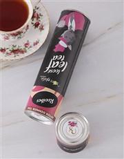 Personalised Floral Toni Glass Loose Leaf Tea