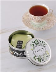 Personalised Botanical Matcha Tea Tin