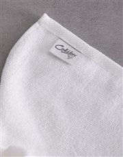 Personalised Husband and Wife White Towel Set
