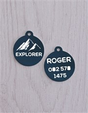 Personalised Explorer ID Tag and XS Collar