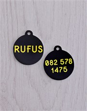 Personalised Black ID Tag and XS Collar