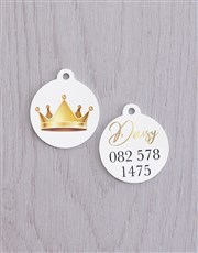 Personalised Crown ID Tag and XS Collar