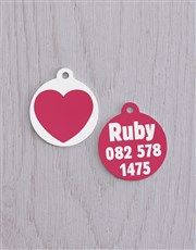 Personalised Heart ID Tag and XS Collar