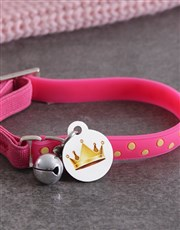 Personalised Crown ID Tag and Cat Collar
