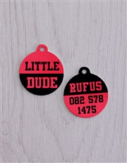 Personalised Little Dude ID Tag and Collar