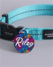 Personalised Floral ID Tag and Collar