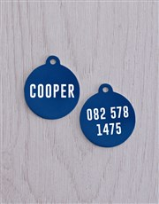 Personalised Turquoise ID Tag and Collar