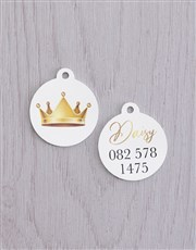 Personalised Crown ID Tag and Collar