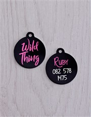 Personalised Wild Thing ID Tag and Collar