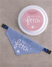 Personalised So Fetch Frisbee and Bandanna