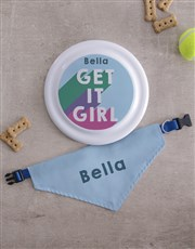 Personalised Get it Frisbee and Bandanna