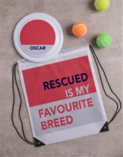 Personalised Rescued Frisbee and Bag