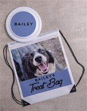 Personalised Blue Frisbee and Bag