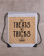 Personalised Treats Tricks Frisbee and Bag