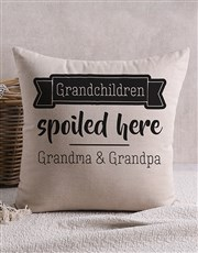 Personalised Happy Grandchildren Scatter Cushion
