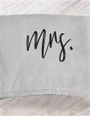Personalised Modern Woman Grey Blanket