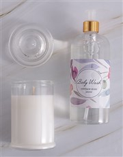 Personalised Time To Unwind Pink Gift Set