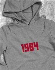 Personalised Year White Hoodie