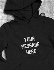 Personalised Message Black Hoodie