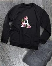 Personalised  Rose Initial Sweater