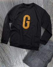 Personalised Gold Initial Ladies Sweater