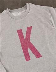 Personalised Pink Initial Ladies Sweater
