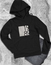 Personalised Year Block Hoodie