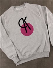Personalised Deco Initial Ladies Sweater