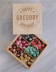 Personalised Happy Birthday Lindt Treasure Box