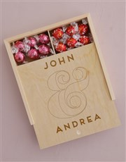 Personalised Couples Lindt Treasure Box