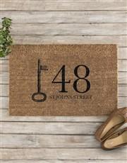 Personalised Address Doormat