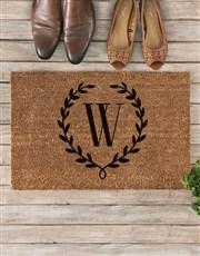 Personalised Floral Monogram Doormat
