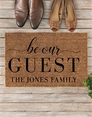 Personalised Be Our Guest Doormat