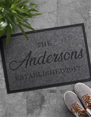 Personalised Family Established Doormat