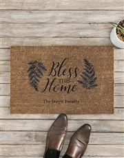 Personalised Bless The Home Doormat