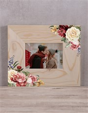 Personalised Floral Couples Photo Frame